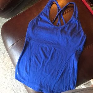 Royal blue workout top